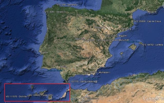 Vértices extremos España