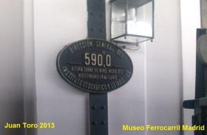 Placa de Nivelación Altitud en el Museo del Ferrocarril de Madrid