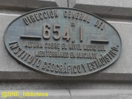 Placa Biblioteca Nacional España