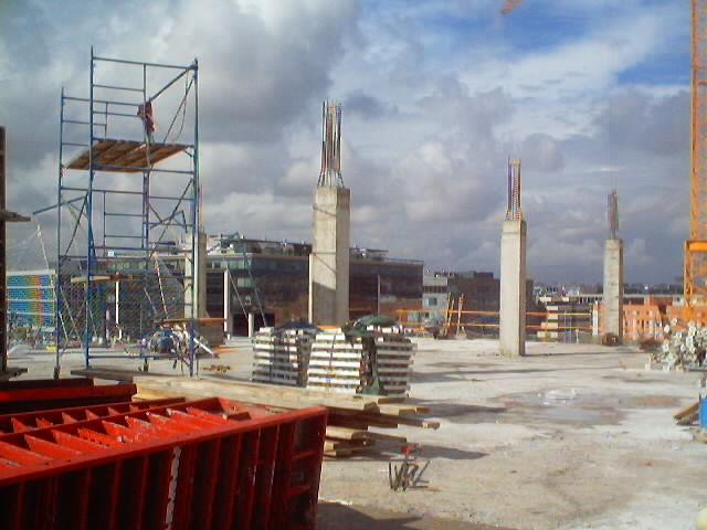Fuente Propia 2003. Obras edificio Acciona Ingeneniería en Alcobendas (Madrid)
